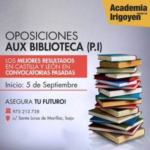 Oposiciones Auxiliar de Biblioteca Junta Castilla y León (promoción interna)