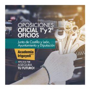 Oposiciones Oficial primera oficios JCyL