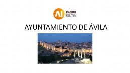 OPOSICIONES AYUNTAMIENTO DE ÁVILA