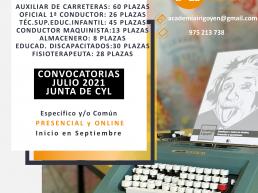 Próximas Convocatorias Personal Laboral 2021 Junta de Castilla y León